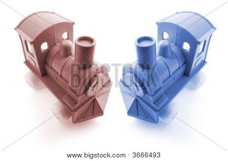 Trenes de juguete de plástico