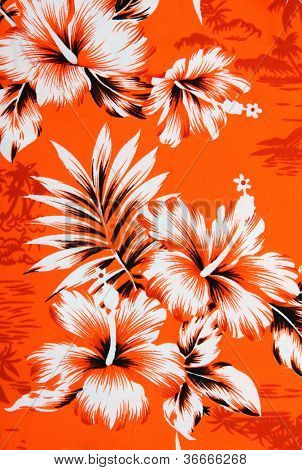 Seamless hibiscus flower background . Hawaiian patterns