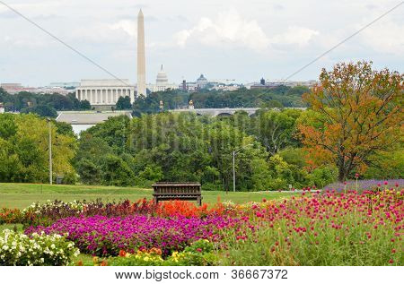 Washington DC National Mall, waaronder Lincoln Memorial, Monument en United States Capitol building