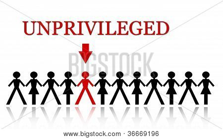 one person of the group is unprivileged