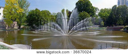 Rechneigraben-weiher Fountain