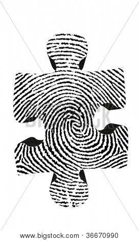 Fingerprint Puzzle Piece