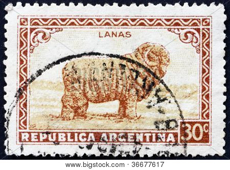 Postage stamp Argentina 1936 Merino Sheep, Wool