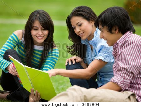 Friends Studying