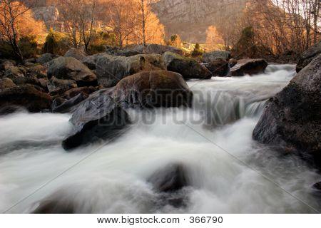 River At Sunrise