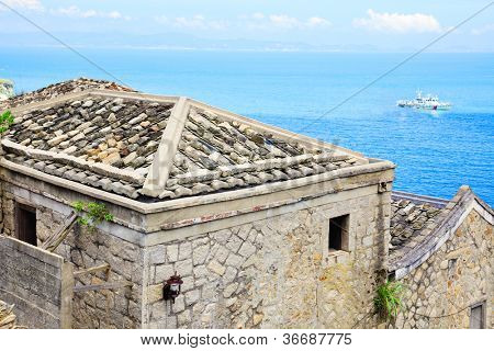 Traditional village of Qing Bi, a well preservative traditional village of the Min-Eastern stone-laid style building in Beigan island,MaTsu,Taiwan