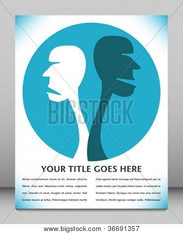 Human disagreement leaflet design.
