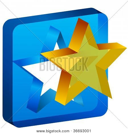An image of a star mold cutout icon.