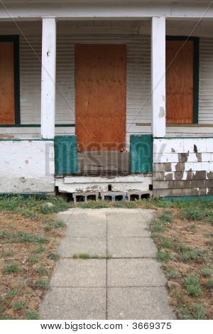 Boarded Up Walkway