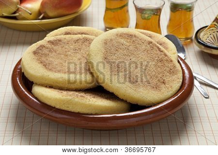 Moroccan Harcha, Semolina Pan-Fried Flatbread