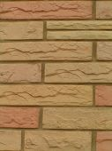 pic of fieldstone-wall  - stonework with yellow golden and pink stones - JPG