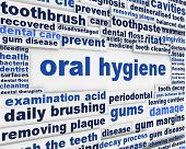 image of slogan  - Oral hygiene slogan poster design - JPG