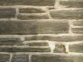 image of fieldstone-wall  - gray stone wall of older church in philadelphia - JPG