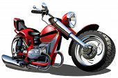 stock photo of scooter  - Vector Cartoon Motorcycle - JPG