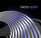 image of vibrator  - Abstract radio wave background with curved lines  - JPG