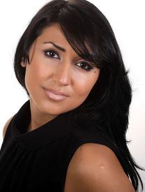 stock photo of dark-skin  - Head shot of a gorgeous dark hair women - JPG