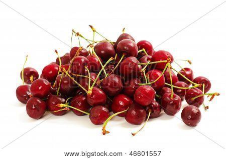 Heap of sweet cherry