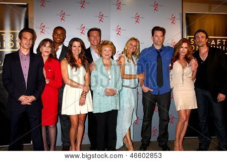 """LOS ANGELES - JUN 4:  Y n R Cast arrive at SAG-AFTRA Panel Discussion With The Cast Of """"The Young And The Restless"""" at the SAG-AFTRA Headquarters on June 4, 2013 in Los Angeles, CA"""
