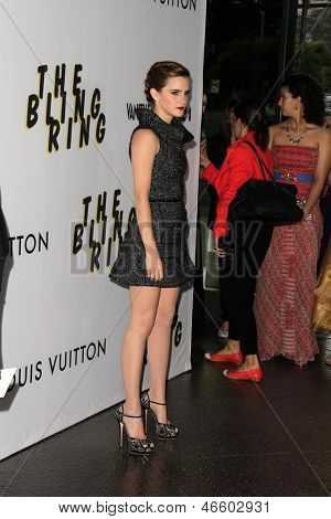 """LOS ANGELES - JUN 4:  Emma Watson arrivesa at the """"The Bling Ring"""" Los Angeles Premiere at the DGA Theater on June 4, 2013 in Los Angeles, CA"""