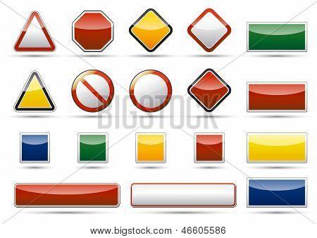 Danger icon elements
