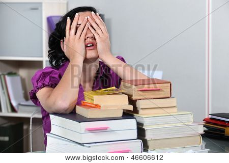 Overwhelmed law student