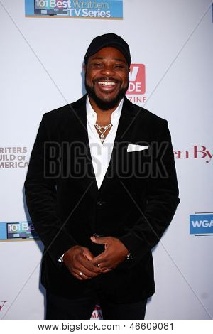 LOS ANGELES - JUN 2:  Malcolm-Jamal Warner arrives at the WGA's 101 Best Written Series Announcement at the Writers Guild of America Theater on June 2, 2013 in Beverly Hills, CA