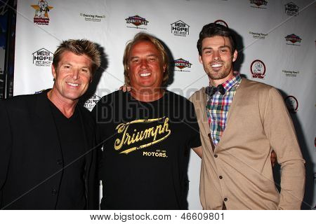 LOS ANGELES - JUN 3:  Winsor Harmon, Guest, Adam Gregory at the Player Concert at the Canyon Club on June 3, 2013 in Agoura, CA