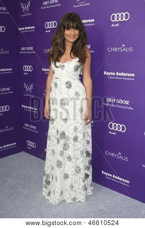 LOS ANGELES - JUN 8:  Lea Michele arrives at the 12th Annual Chrysalis Butterfly Ball at the Private Residence on June 8, 2013 in Los Angeles, CA