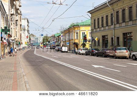 Moscow Cityscape - Pokrovka Street