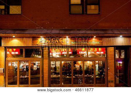 Restaurant In Chinatown, Boston
