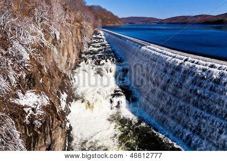 River Waterfall On Croton Dam