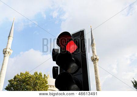 Red Light And Minarets I