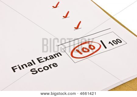 Final Exam Marked With 100%