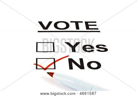 Vote Ballot Form With No Checked
