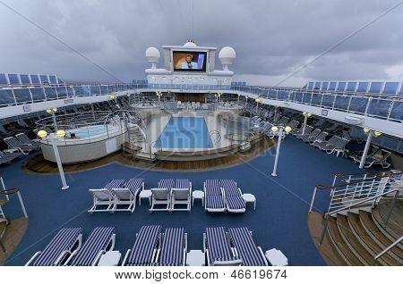 Upper deck of Princess cruise ship