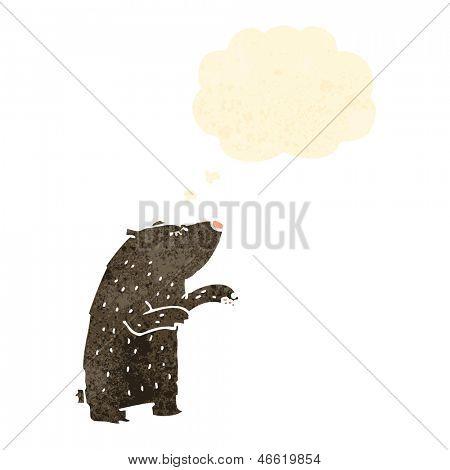 oso de dibujos animados retro
