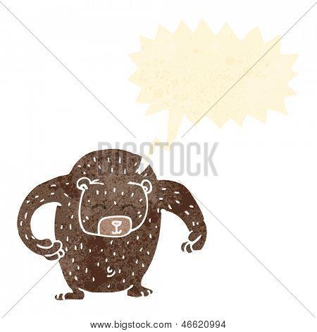 gran oso de dibujos animados retro