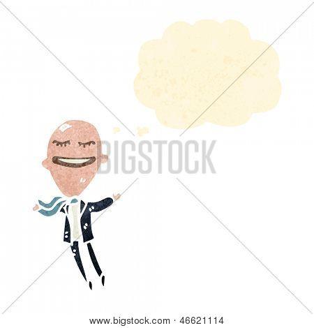 retro cartoon big head businessman