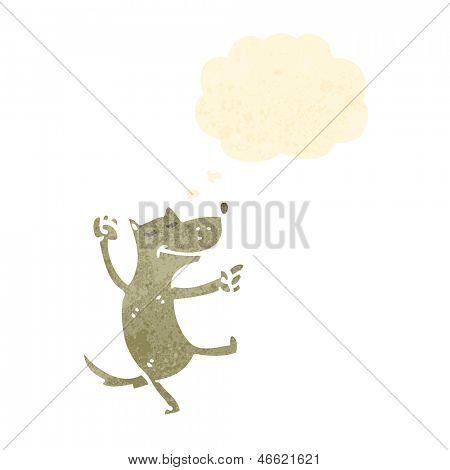 Retro Cartoon tanzenden Hund