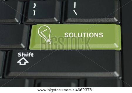 Shift To Solutions  Button On Enter Key