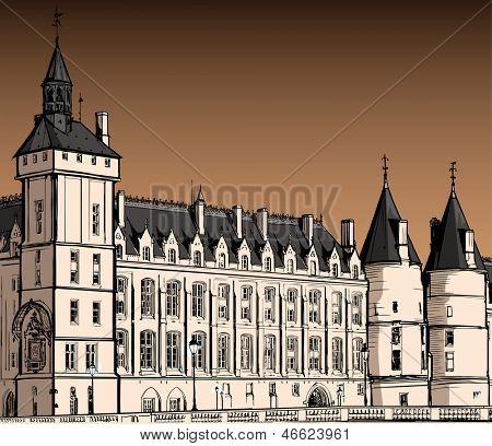 France - Paris - The castle of  Conciergerie