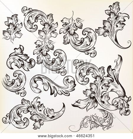 Calligraphic Vintage Vector  Design Elements And Page Decorations