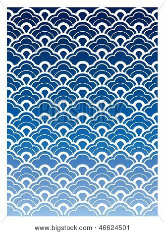 Japanese wave style pattern