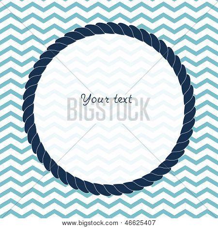 Round navy blue