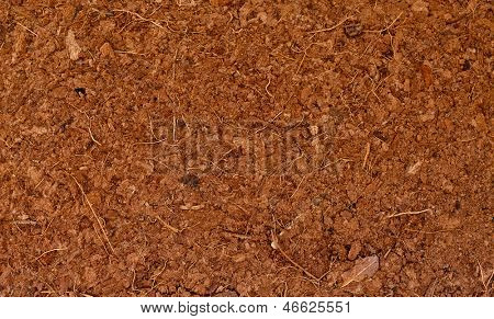 Block of Coconut Husk Fiber Chips surface background