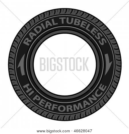 vector radial tubeless tyre
