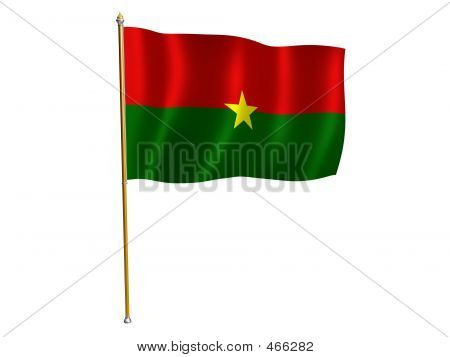 Burkina Faso Silk Flag
