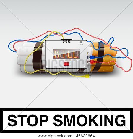 Stop smoking - cigarette bomb