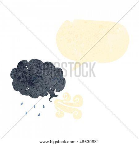 retro cartoon rain cloud