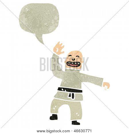 retro cartoon karate expert